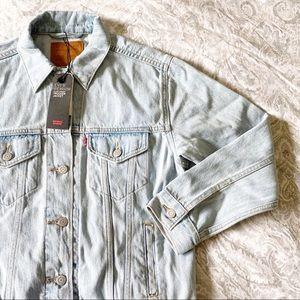 LEVI'S Ex-Boyfriend Trucker Jacket Denim Small NWT